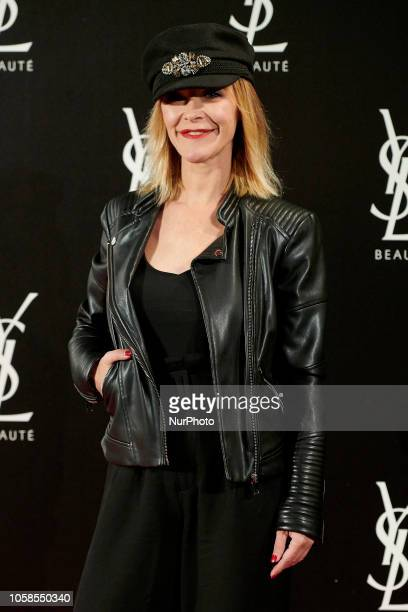 Maria Estevez attends the YVES SAINT LAURENT THE SLIM Rouge PurCouture party photocall at Santona Palace in Madrid on October 6 2018