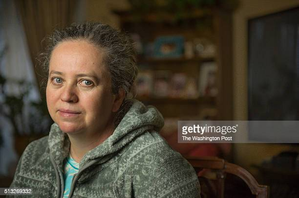 Maria Estevez in her home on Feb 24 2016 in Falls Church Va Estevez's purse containing money for her daughter's tuition was stolen last month at a...