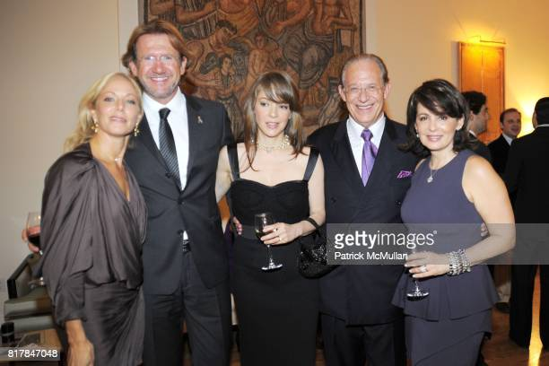 Maria Eugenia Maury Arria Manolo Lestre Edith Gonzalez Dr William Haseltine and Laura Pilson attend Aid for AIDS Planning Party for the 2010 MY HERO...