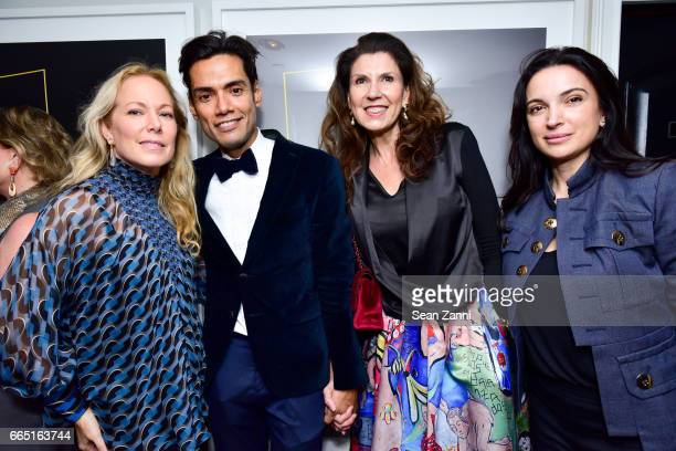 Maria Eugenia Maury Omar Hernandez Gabriela Neri and Clarice Tavares attend OMAR'S 4th Anniversary Celebration at Omar's La Ranita on April 5 2017 in...