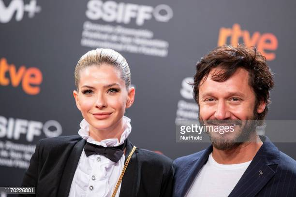 Maria Eugenia Suarez and Benjamin Vicuna attends the 'La Trinchera Infinita ' Premiere during the 67th San Sebastian Film Festival in the northern...