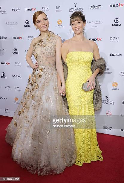 Maria Eugenia Suconic and Maria Eugenia Suconic attend the 44th International Emmy Awards at New York Hilton on November 21 2016 in New York City