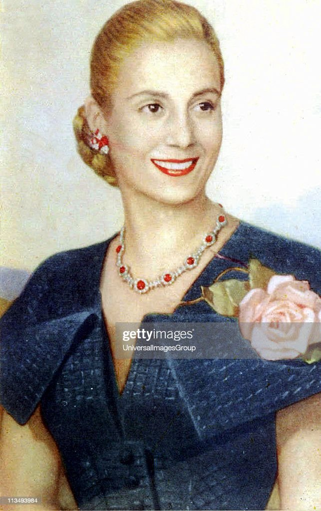 Maria Eva Duarte de Peron 7 May 1919 - 26 July 1952, was the second wife of President Juan Peron (1895-1974) and served as the First Lady of Argentina from 1946 until her death in 1952. ... : News Photo