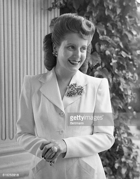 Maria Eva Duarte Peron the First Lady of Argentina is shown here She was Juan Peron's second wife in 1945 and active in social reforms