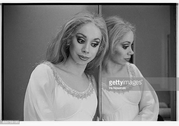 Maria Ewing poses for a photographer in her costume as Melisande She performs in the opera Pelleas et Melisande Composer Claude Debussy