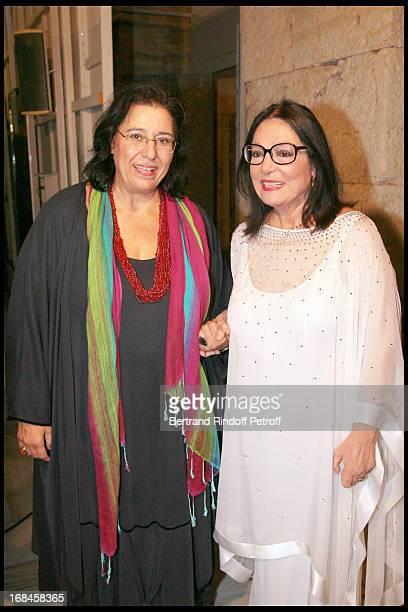 Maria Farandouri and Nana Mouskouri at Nana Mouskouri's Farewell Concert At Odeon Herodes Atticus In Athens
