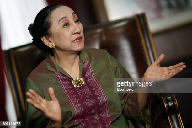 Maria Farida Indrati a justice at the Constitutional Court of Indonesia speaks during an interview in Jakarta Indonesia on Wednesday Sept 27 2017...