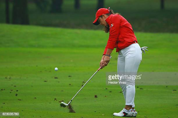 Maria Fassi of Mexico hits her shot during the final round of the Lorena Ochoa Invitational 2016 at Club de Golf on November 13 2016 in Mexico City...