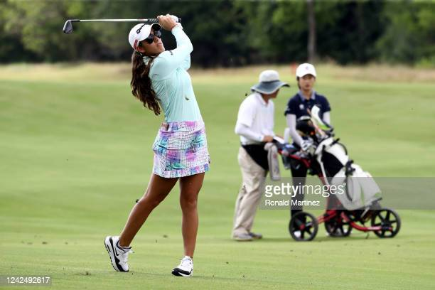 Maria Fassi of Mexico plays an approach shot on the 10th hole during the first round of the Energy Producers Inc Texas Women's Open on June 02 2020...