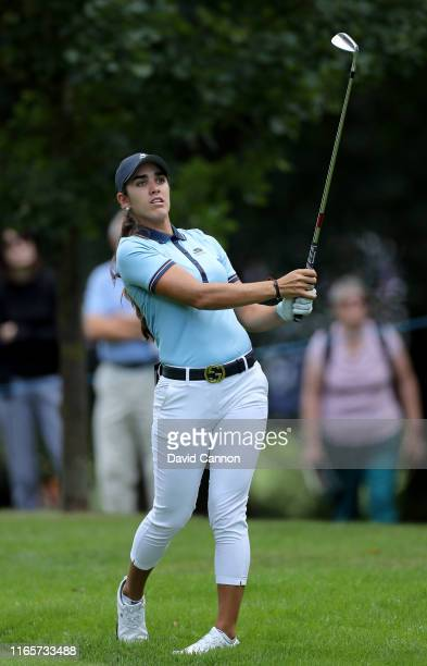 Maria Fassi of Mexico plays her second shot on the par 4 16th hole during the second round of the AIG Women's British Open on the Marquess Course at...