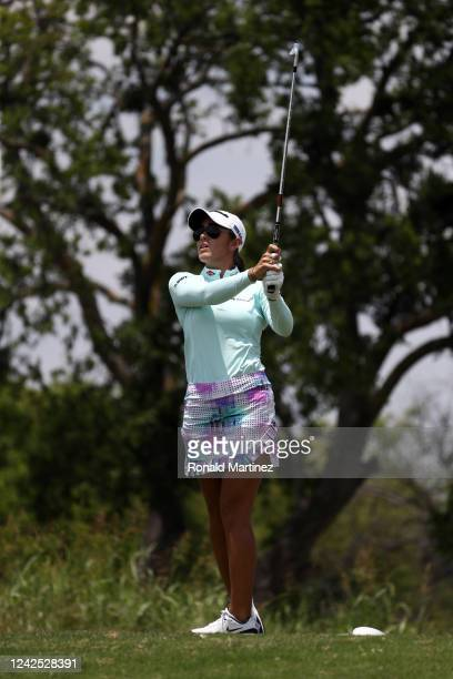 Maria Fassi of Mexico plays her shot from the 3rd tee during the first round of the Energy Producers Inc Texas Women's Open on June 02 2020 in The...