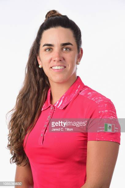Maria Fassi of Mexico poses for a portrait during the LPGA Q Series Head Shots session at Pinehurst Resort on October 29 2018 in Pinehurst North...