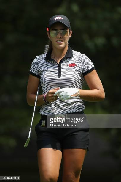 Maria Fassi of Mexico walks from the 13th tee during the first round of the 2018 US Women's Open at Shoal Creek on May 31 2018 in Shoal Creek Alabama