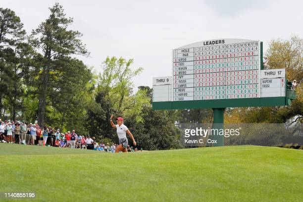 Maria Fassi of Mexico walks onto the 18th green during the final round of the Augusta National Women's Amateur at Augusta National Golf Club on April...