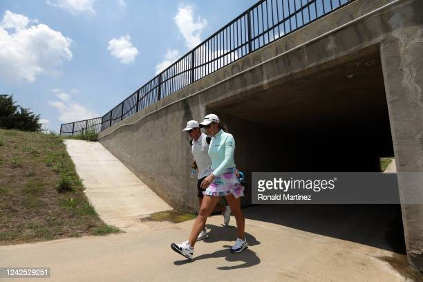Maria Fassi of Mexico walks to the 3rd tee during the first round of the Energy Producers Inc Texas Women's Open on June 02 2020 in The Colony Texas
