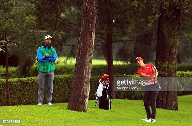 Maria Fassi of Mexico watches her 2nd shot on the 3rd hole during the first round of the Citibanamex Lorena Ochoa Invitational Presented By...