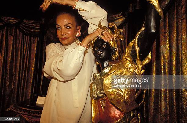 Maria Felix sells her furniture on her collection to Napoleon III in Paris France on June 05 1990