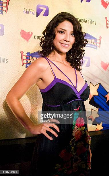 Maria Fernanda Quiroz attends to the presentation of the tv serie Lucho en Familia at the Camino Real Hotel on March 23 2011 in Tlalnepantla Mexico