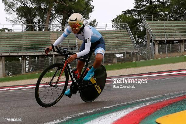 Maria Fernanda Yapura Plaza of Argentina / Autodromo Enzo e Dino Ferrari / during the 93rd UCI Road World Championships 2020, Women Elite Individual...