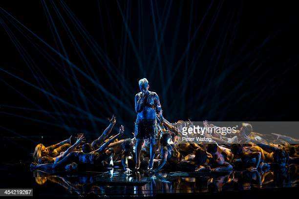 Maria Fischer performs during the second Semifinal of 'Das Supertalent' TV Show on December 07 2013 in Cologne Germany