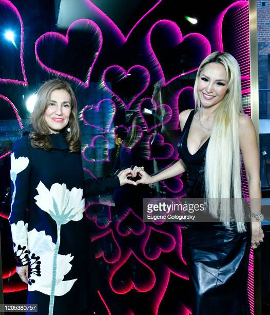 Maria Fishel and Lillian Gorbachincky attend the Andrea Bocelli Foundation Lillian Gorbachincky Present First Annual Luncheon at AD Building on...