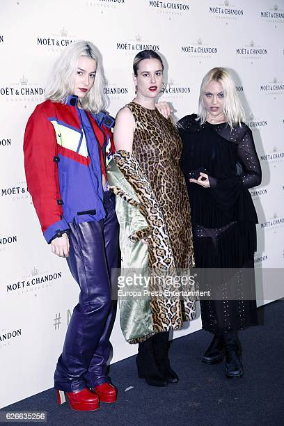 Maria Forque and Daniela Blume attend the 'Moet & Chandon' New Year's Eve party at Florida Retiro on November 29, 2016 in Madrid, Spain.