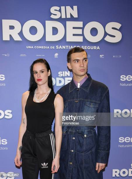 Maria Forque and guest attends the 'Sin Rodeos' premiere at Capitol cinema on February 28, 2018 in Madrid, Spain.