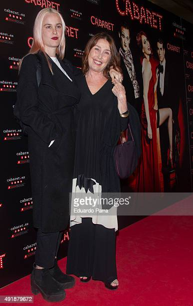 Maria Forque and Veronica Forque attend the 'Cabaret, Broadway Musical' photocall at Rialto theatre on October 8, 2015 in Madrid, Spain.