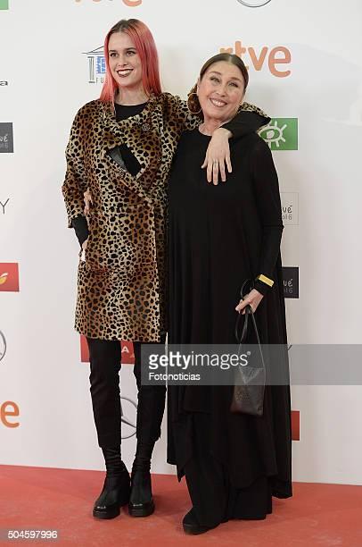 Maria Forque and Veronica Forque attend the Jose Maria Forque Awards at the Palacio de Congresos on January 11, 2016 in Madrid, Spain.