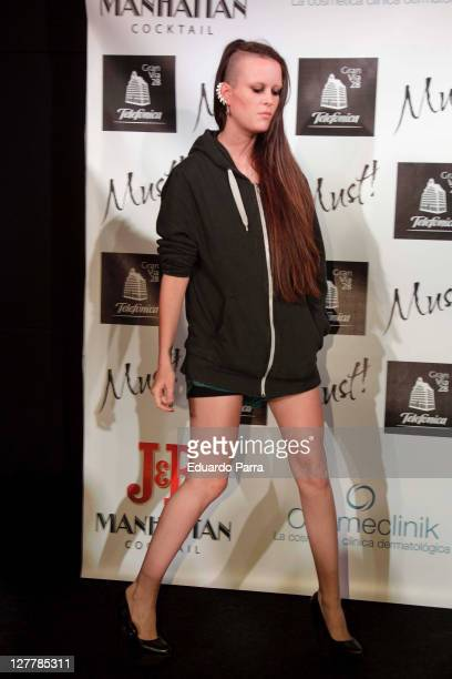 Maria Forque attends Must Awards photocall at Telefonica flagship store on June 14 2011 in Madrid Spain