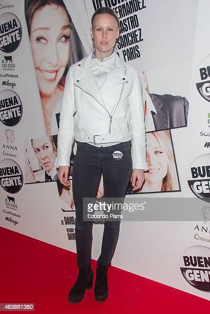 Maria Forque attends the 'Buena Gente' premiere at Rialto theatre on February 19, 2015 in Madrid, Spain.