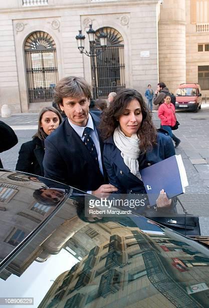 Maria Francisca 'Xisca' Perello girlfriend of Rafael Nadal sighted at the press presentation of Barcelona Open Banc Sabadell 59th Annual Trofeo Conde...