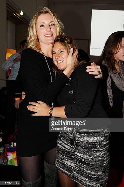 Maria Furtwaengler and Elisabeth Burda attend the DLD StarNight at Haus der Kunst on January 23 2012 in Munich Germany