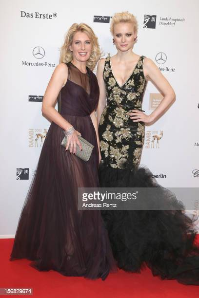 Maria Furtwaengler and Franziska Knuppe attend the ''BAMBI Awards 2012' at the Stadthalle Duesseldorf on November 22 2012 in Duesseldorf Germany