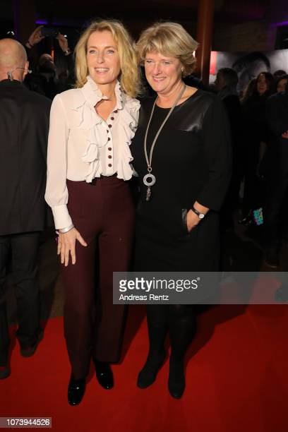 Maria Furtwaengler and German Culture Minister Monika Gruetters attend the German Short Film Award at Waschhaus Potsdam on November 28 2018 in...
