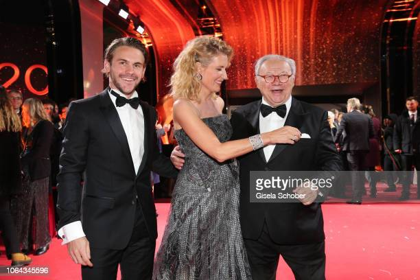 Maria Furtwaengler and her son Jakob Burda and her husband Dr Hubert Burda during the Bambi Awards 2018 Arrivals at Stage Theater on November 16 2018...
