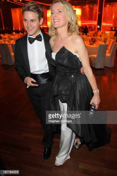 Maria Furtwaengler and son Jacob Burda attend the Bambi Award 2011 aftershow party at the RheinMainHallen on November 10 2011 in Wiesbaden Germany