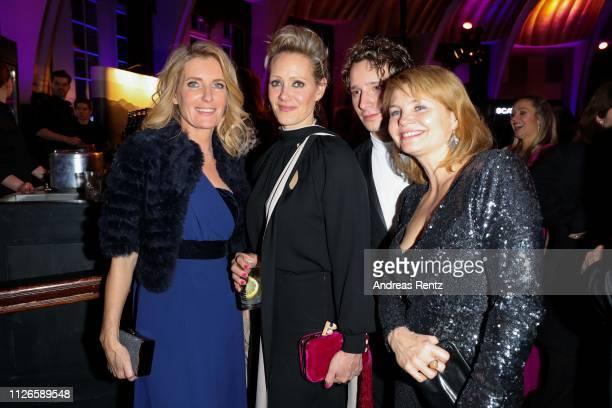 Maria Furtwaengler, Anna Schudt, Jonathan Berlin and Annette Frier attend the German Television Award after show reception at Rheinterrasse on...