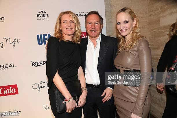 Maria Furtwaengler Burda, Nico Hofmann and Anne Meyer-Minnemann, editor in chief of Gala, during the 'Berlin Opening Night of GALA & UFA Fiction' at...