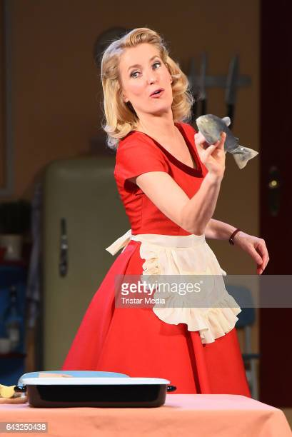 Maria Furtwaengler during the rehearsal for the play 'Alles muss glaenzen The Homemaker' at Theater am Kurfuerstendamm on February 20 2017 in Berlin...