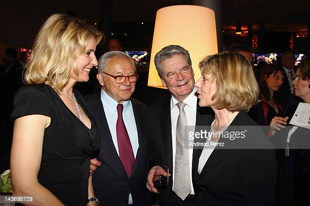 Maria Furtwaengler Hubert Burda German President Joachim Gauck and his partner Daniela Schadt attend the 100th anniversary of founder of Springer...