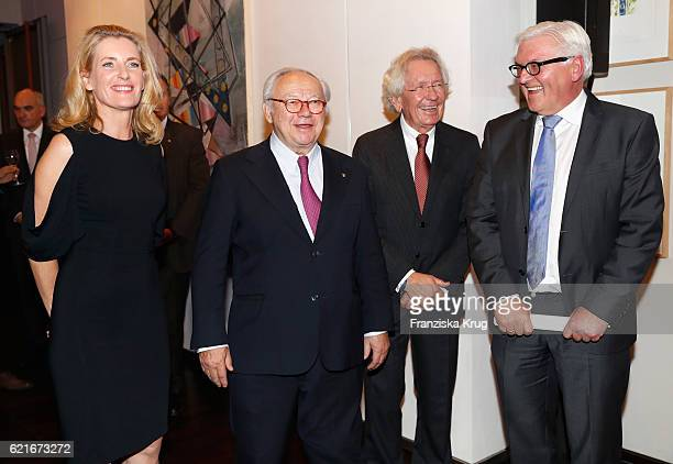 Maria Furtwaengler Hubert Burda Stephan HolthoffPfoertner FranzWalter Steinmeier during the VDZ Publishers' Night 2016 at Deutsche Telekom's...