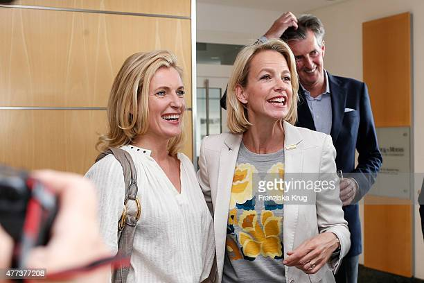 Maria Furtwaengler Julia Jaekel and Andreas Petzold attend the STERN And CAPITAL Summer Party on June 16 2015 in Berlin Germany