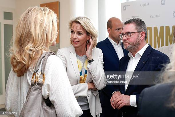 Maria Furtwaengler Julia Jaekel and Christian Krug attend the STERN And CAPITAL Summer Party on June 16 2015 in Berlin Germany