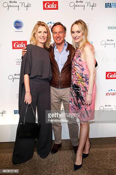 Maria Furtwaengler, Nico Hofmann and Anne Meyer-Minnemann attend the 'Berlin Opening Night Of Gala & Ufa Fiction on February 05, 2015 in Berlin,...