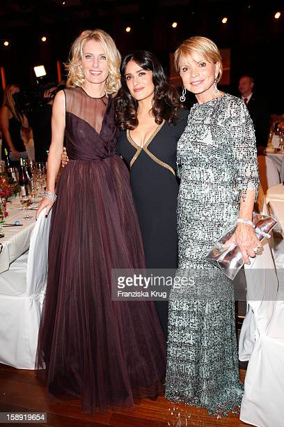 Maria Furtwaengler Salma Hayek and Uschi Glas attend the 'BAMBI Awards 2012' at the Stadthalle Duesseldorf on November 22 2012 in Duesseldorf Germany
