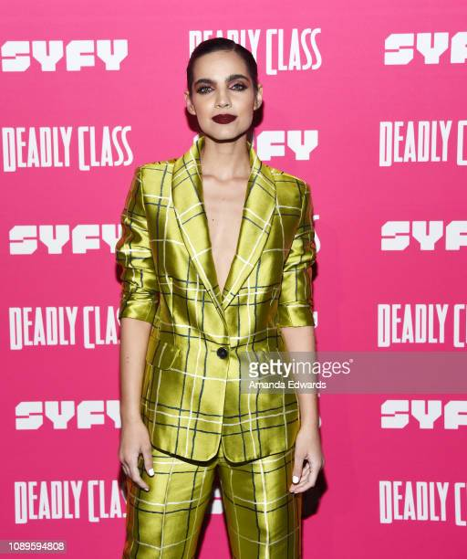 Maria Gabriela de Faria arrives at SYFY's new series Deadly Class premiere screening at The Roxy Theatre on January 03 2019 in West Hollywood...