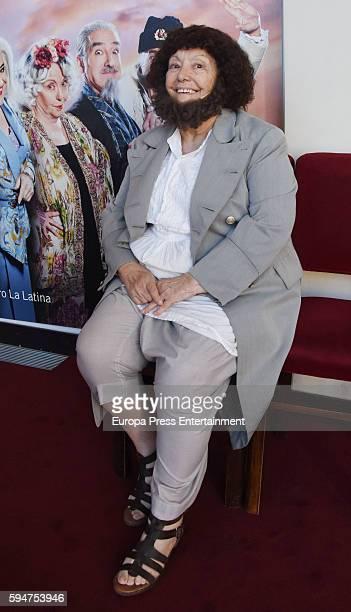 Maria Galiana attends the presentation of 'La asamblea de las mujeres' at La Latina theatre on August 23 2016 in Madrid Spain