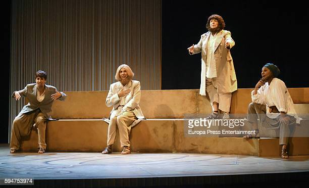 Maria Galiana Pastora Vega and Lolita attend the presentation of 'La asamblea de las mujeres' at La Latina theatre on August 23 2016 in Madrid Spain