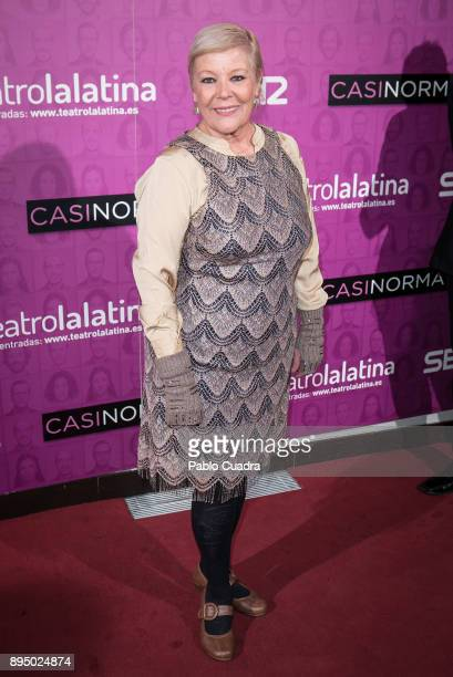 Maria Garralon attends the 'Casi Normales' premiere at 'La Latina' Theatre on December 18 2017 in Madrid Spain